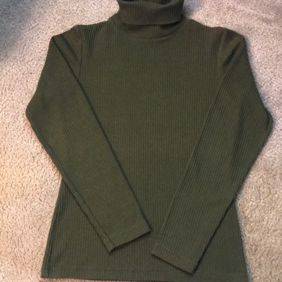 eda8fad6eb 90 s Express Tricot Ribbed Turtle Neck